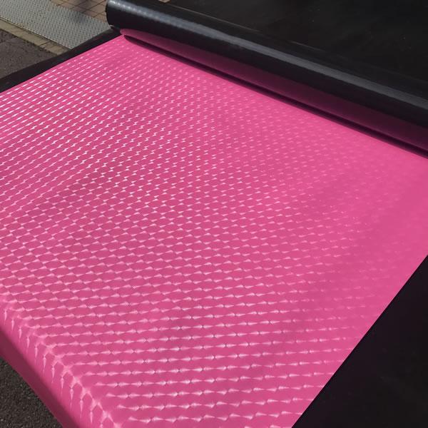 ビニールシート レンズ ピンク 画像